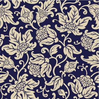 Seamless floral pattern. Abstract texture with branches of flowers and leaves. Vector background.