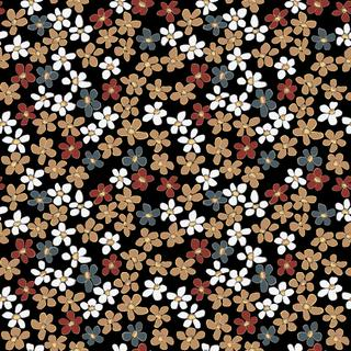 Seamless floral pattern isolated in vector. Little flowers on a black background.