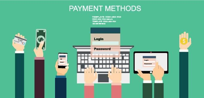 Flat design illustration concepts for Payment Methods. Concepts web banner