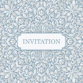 Luxury vintage invitation card template. Ornate calligraphic floral greeting card.