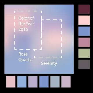 Blurred background with trendy colors of the year 2016 Rose Quartz and Serenity.Vector illustration.Fashion infographic