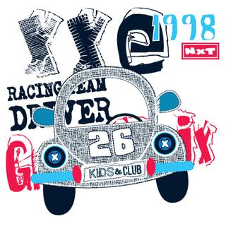 car grand prix, T-shirt design vector illustration