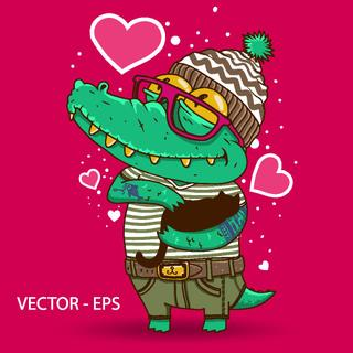 Vector Lovers Crocodiles