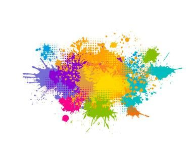 Colored spray paint with a place for your text. Vector