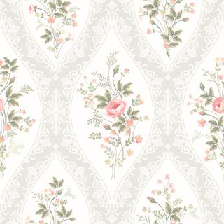 seamless floral pattern with lace and rose bouquet