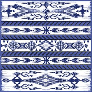 Traditional oriental decor in kilim style, modern variation of the eastern pattern, adaptation for the decoration of silk scarf. Vintage, boho chic. Gypsy, indian, nomad and african motifs.