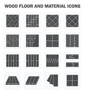 Wood floor and material vector icon sets design.