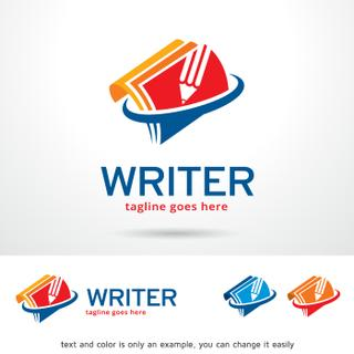 Writer Logo Template Design Vector