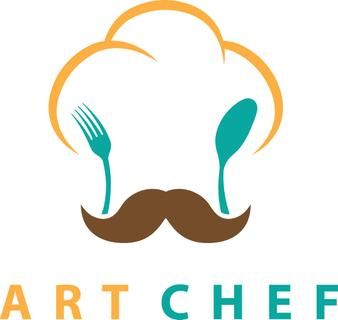Concept illustration of chefs hat with fork and spoon. Vector