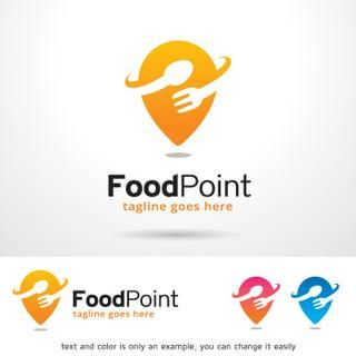 Food Point Logo Design Template