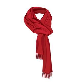 scarf design beautiful, illustration scarf color red.