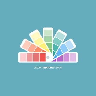 Color swatches palette book. Vector illustration.